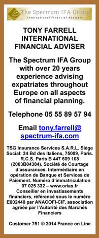 Tony Farrell,international financial adviser,Spectrum IFA Group,financial planning,Creuse,Limousin