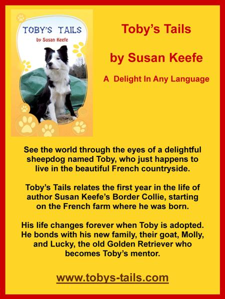 Toby's Tails,Susan Keefe,border collie,sheep dog,France,childrens story